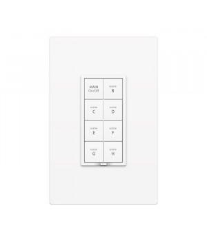 keypadlinc Dimmer de 8 botones Dual-Bland