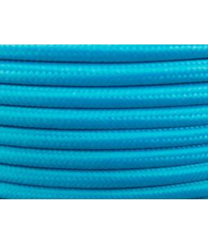 Cable Textil Azul Pastel