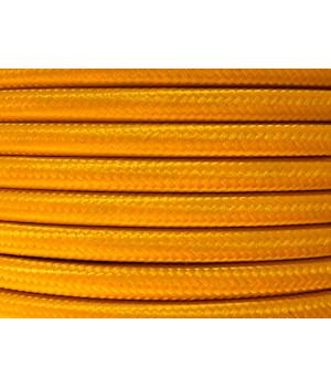 Cable Textil Amarillo Mostaza