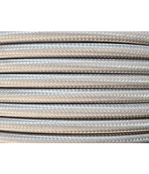 Cable Textil Gris Plata