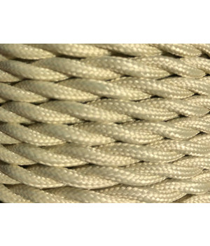Cable Textil ivory Trenzado