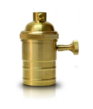 Socket   Vintage Oro Con Apagador