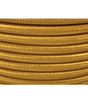 Cable Textil Dorado