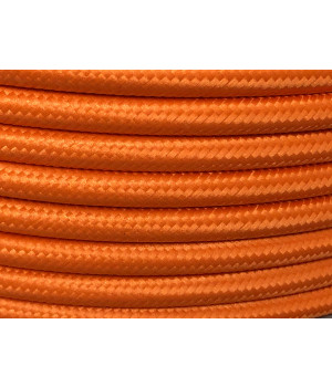 Cable Textil Anaranjado