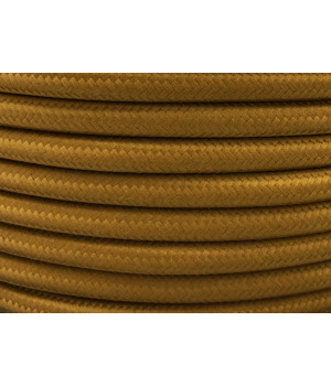 Cable Textil Dorado Oscuro