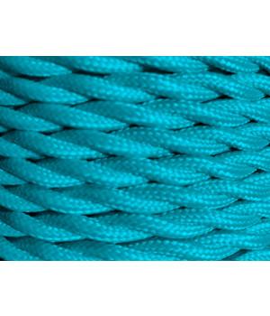 Cable Textil Aqua Trenzado