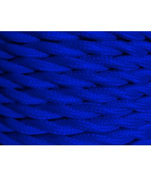 Cable Textil Azul Electrio Trenzado
