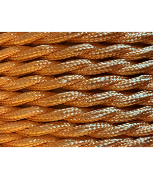 Cable Textil Dorado Trenzado