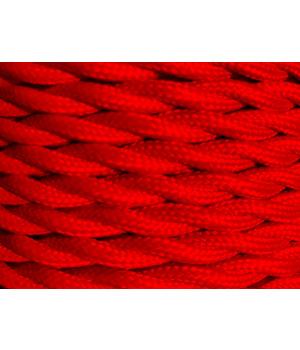 Cable Textil Rojo Trenzado