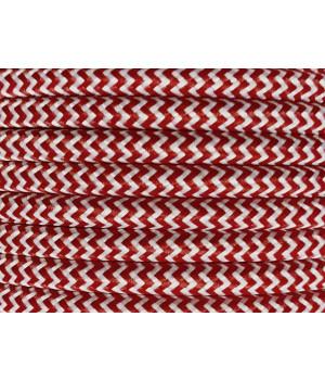 Cable Textil Rayado Blanco Tinto