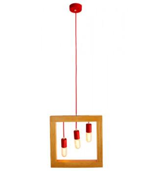 Lámpara Cuadrada de Madera