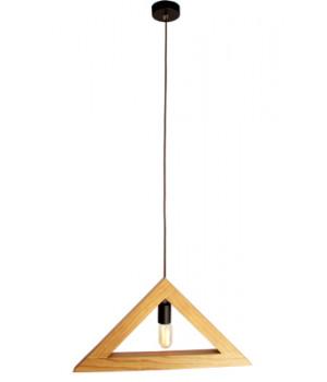 Lámpara Triangular de Madera
