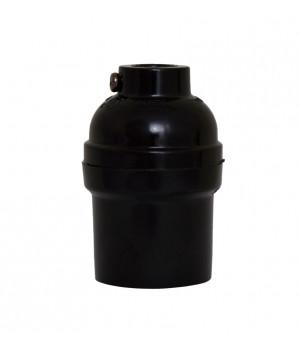 Socket Baquelita Negro Oval