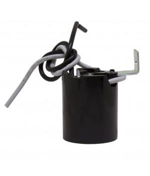 Socket Baquelita Negro Con escuadra