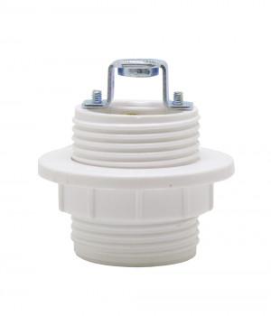 Socket Baquelita Blanco Contratuerca para Niple